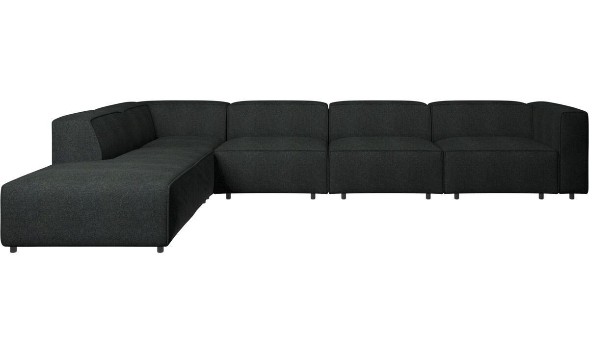 Sofas with open end - Carmo motion corner sofa - Grey - Fabric