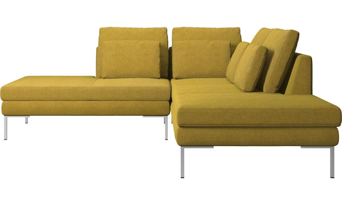 Sofás con lado abierto - sofá Istra 2 con módulo de descanso - En amarillo - Tela