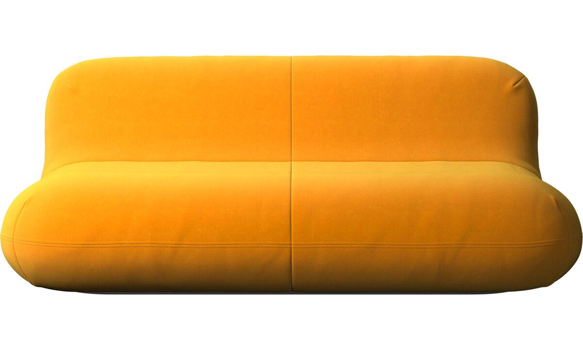 Sofás de 2 lugares e meio - sofa Chelsea - Laranja - Tecido