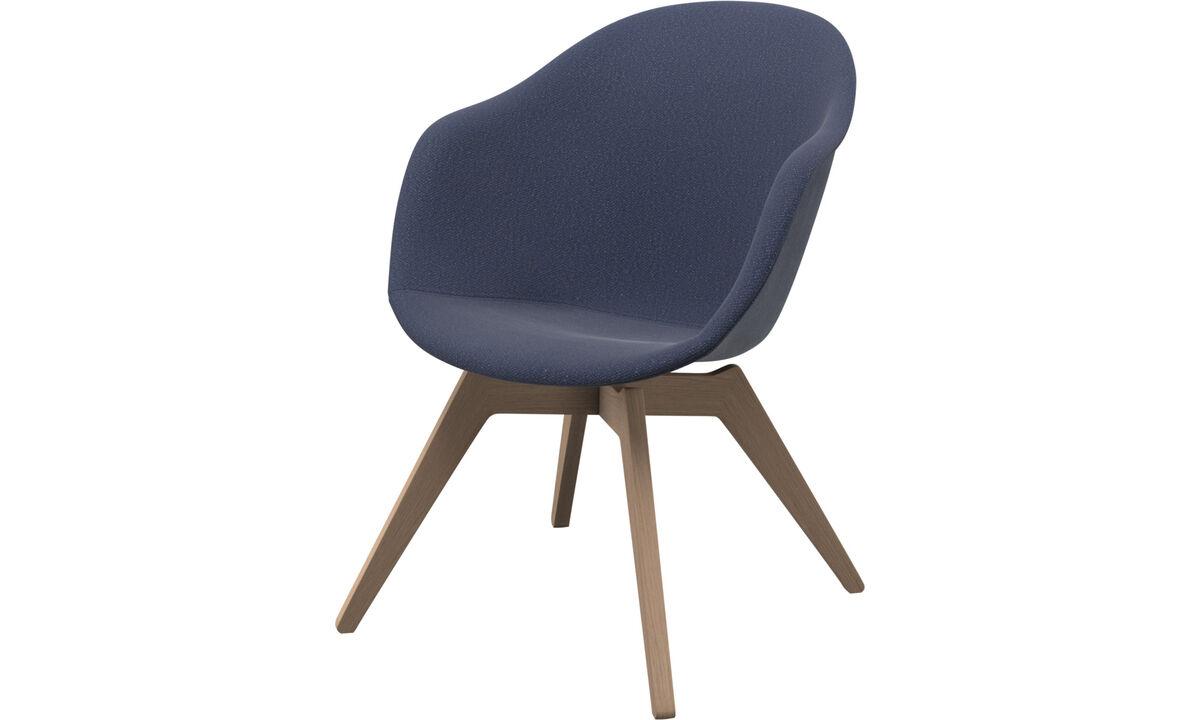單椅 - Adelaide 休閒椅 - 藍色 - 布艺