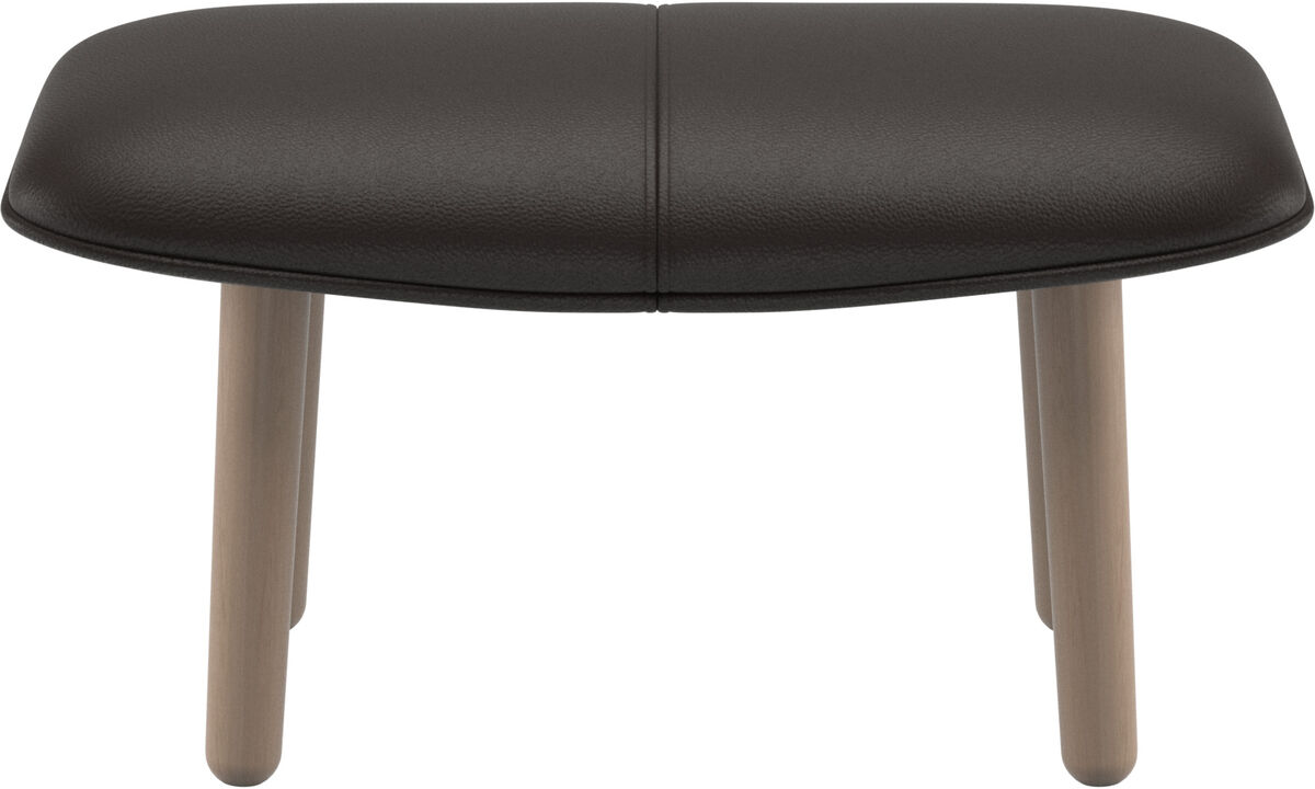 Footstools - fusion footstool - Brown - Leather