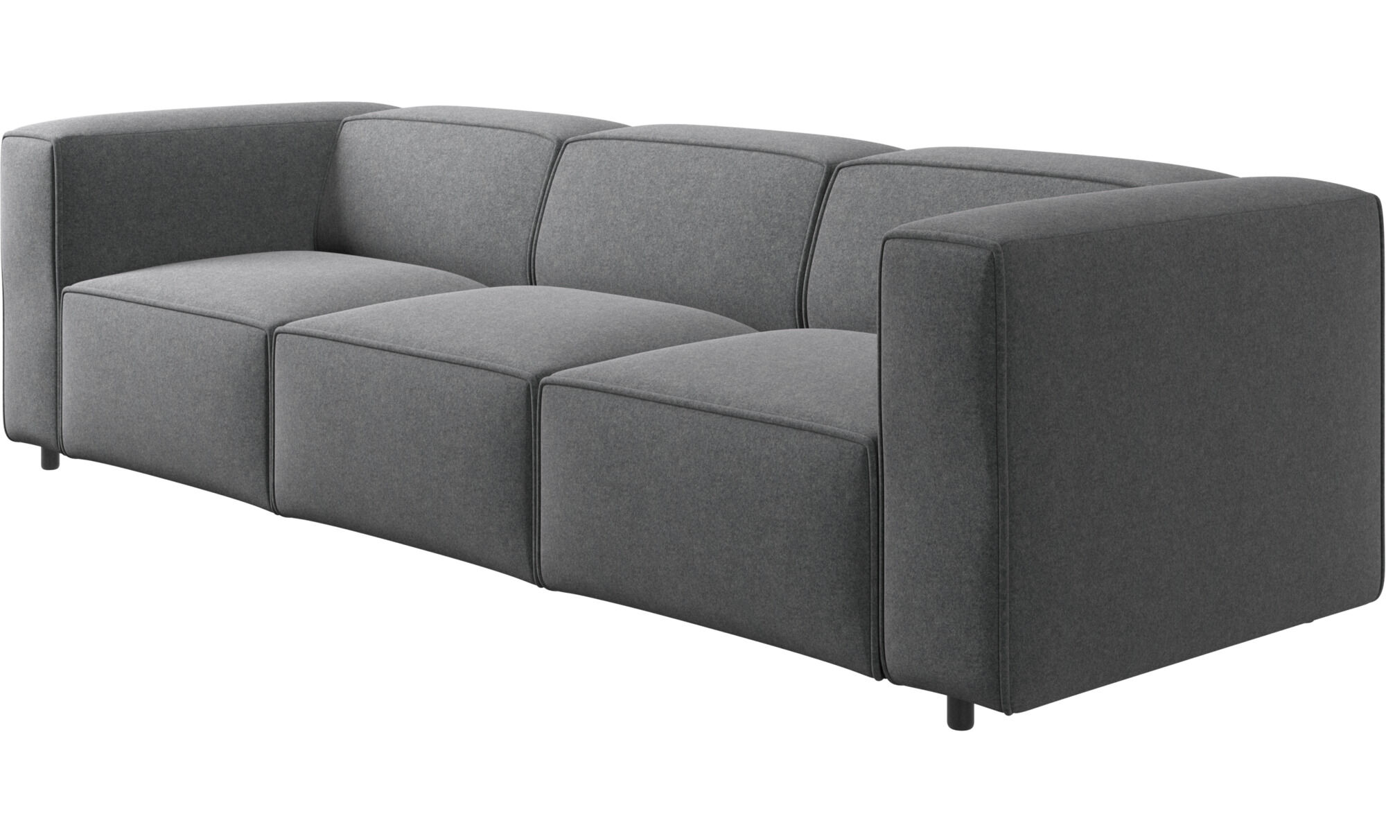... 3 Seater Sofas   Carmo Sofa   Gray   Fabric ...