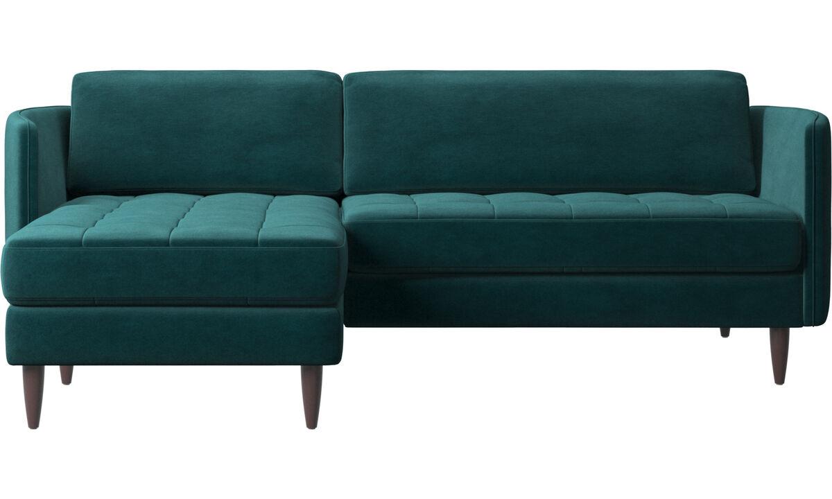 Диваны с козеткой - диван Osaka с модулем для отдыха - Синего цвета - Tкань