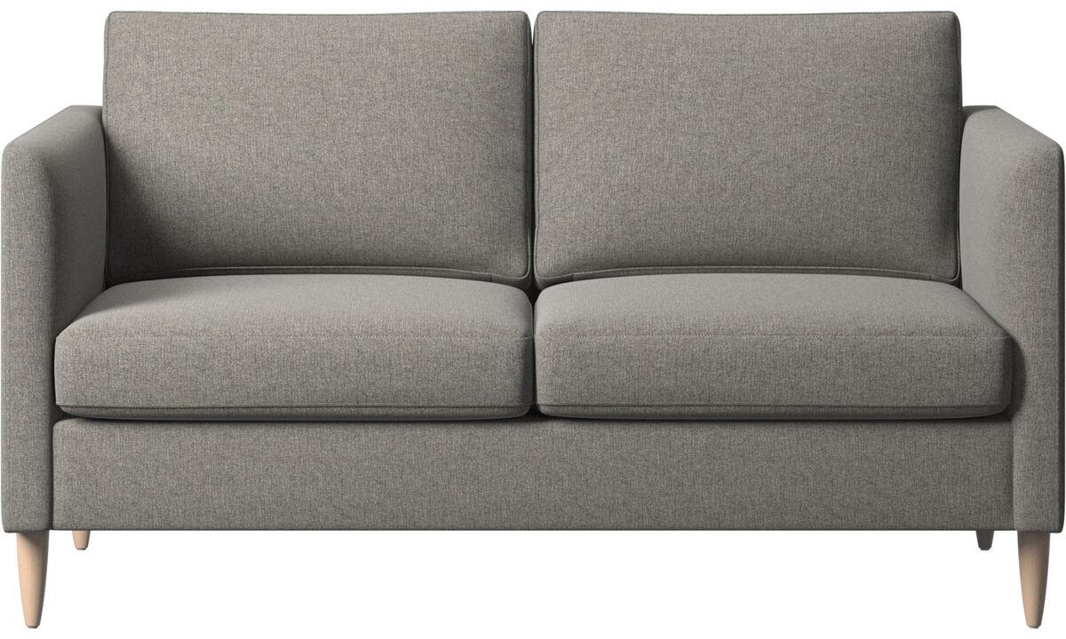 2 seater sofas - Indivi divano - Nero - Tessuto