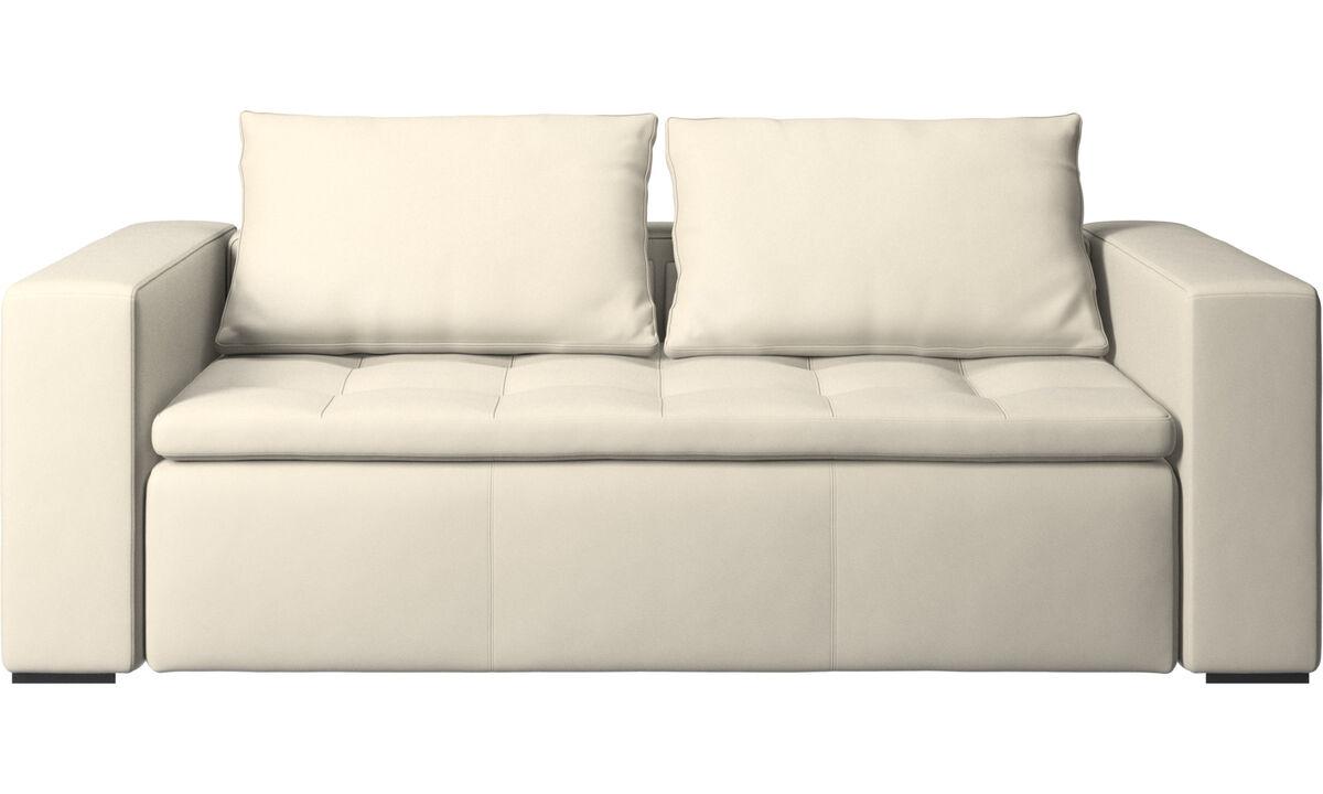 2.5 seater sofas - Mezzo sofa - White - Leather