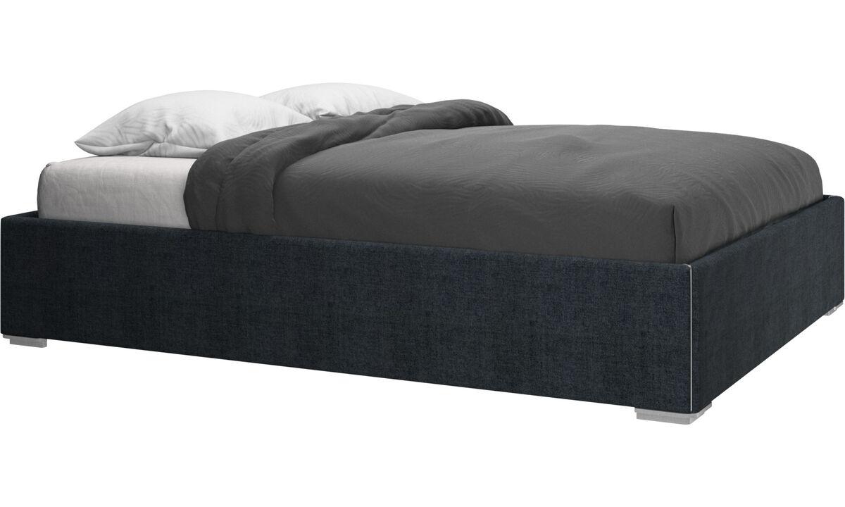 Camas - cama Mezzo, no incluye colchón - En azul - Tela