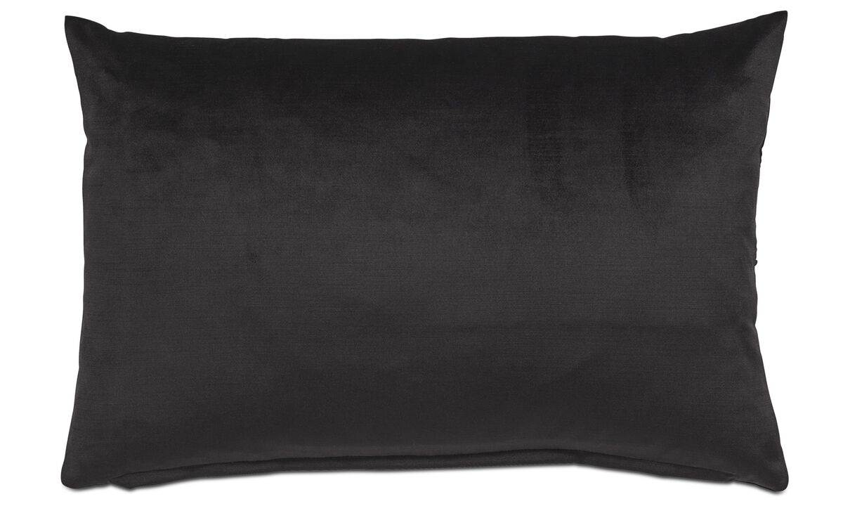 Cushions - Velvet cushion - Black - Fabric