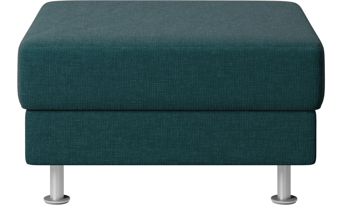Footstools - Indivi 2 footstool - Blue - Fabric