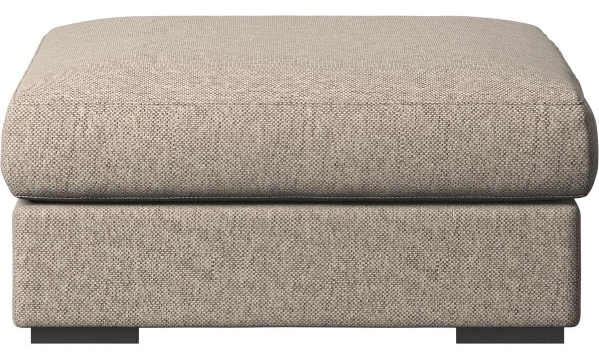 Footstools - Cenova footstool - Beige - Fabric