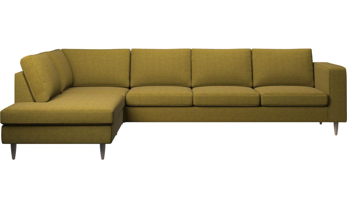 Sofas with open end - Indivi divano ad angolo con modulo relax - Giallo - Tessuto