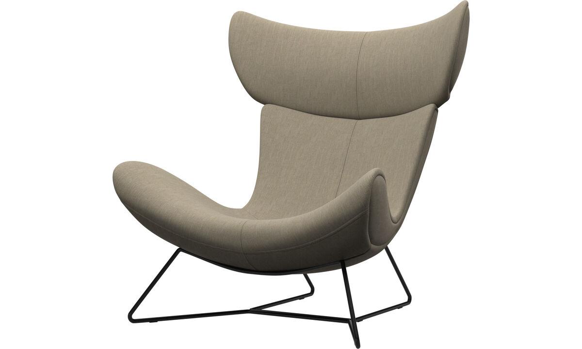 休闲椅 - Imola椅 - 褐色 - 布艺