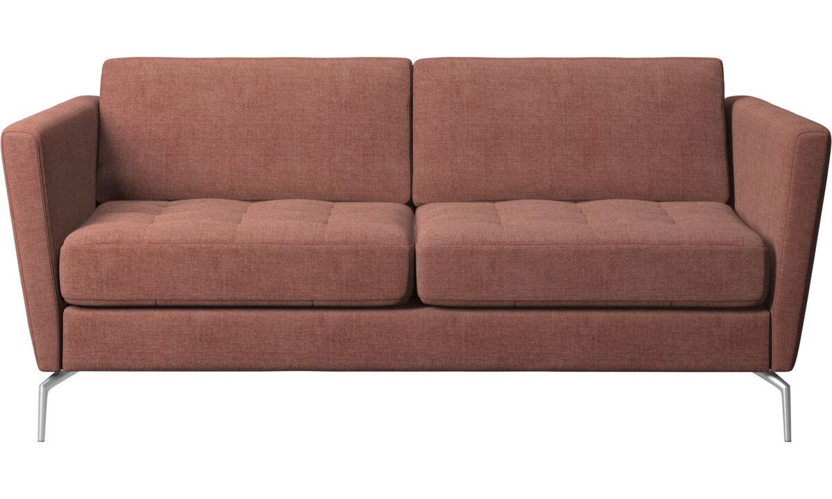 Sofás de 2 lugares - Sofá Osaka, assento tufado - Vermelho - Tecido