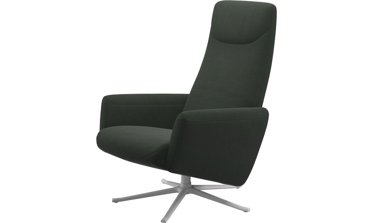 Poltronas - poltrona reclinável Lucca giratória - Verde - Tecido