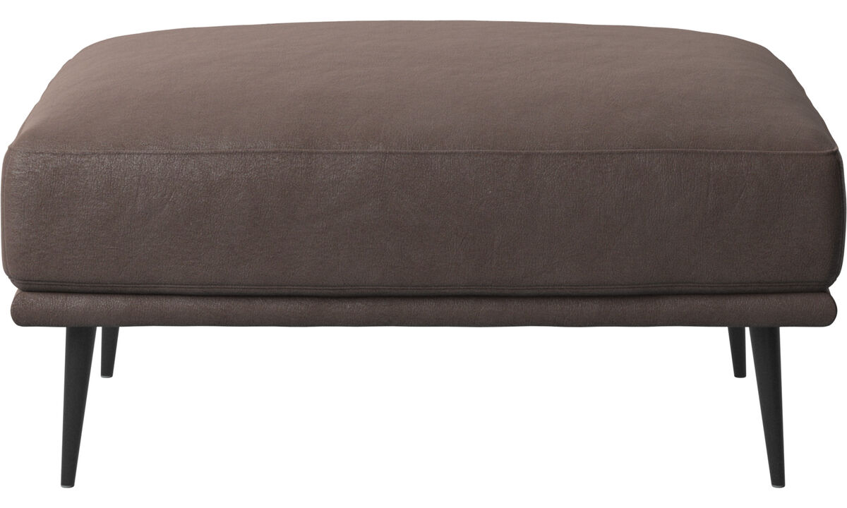 Footstools - Carlton footstool - Brown - Leather