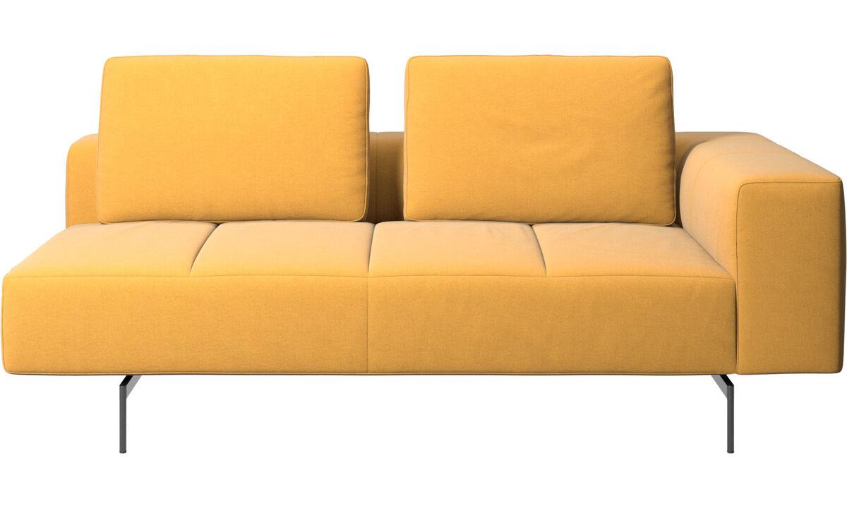 Sofás modulares - módulo Amsterdam de 2,5 plazas, reposabrazos derecho - En amarillo - Tela
