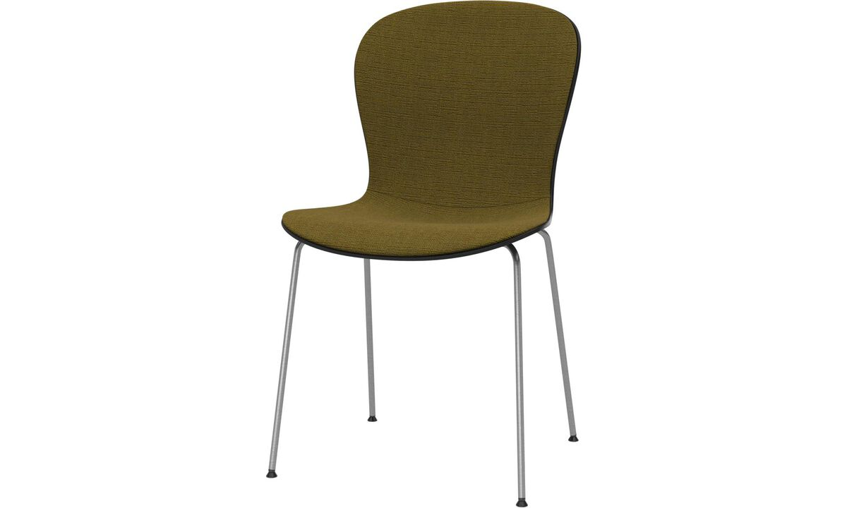 Dining chairs - Adelaide chair - Yellow - Fabric