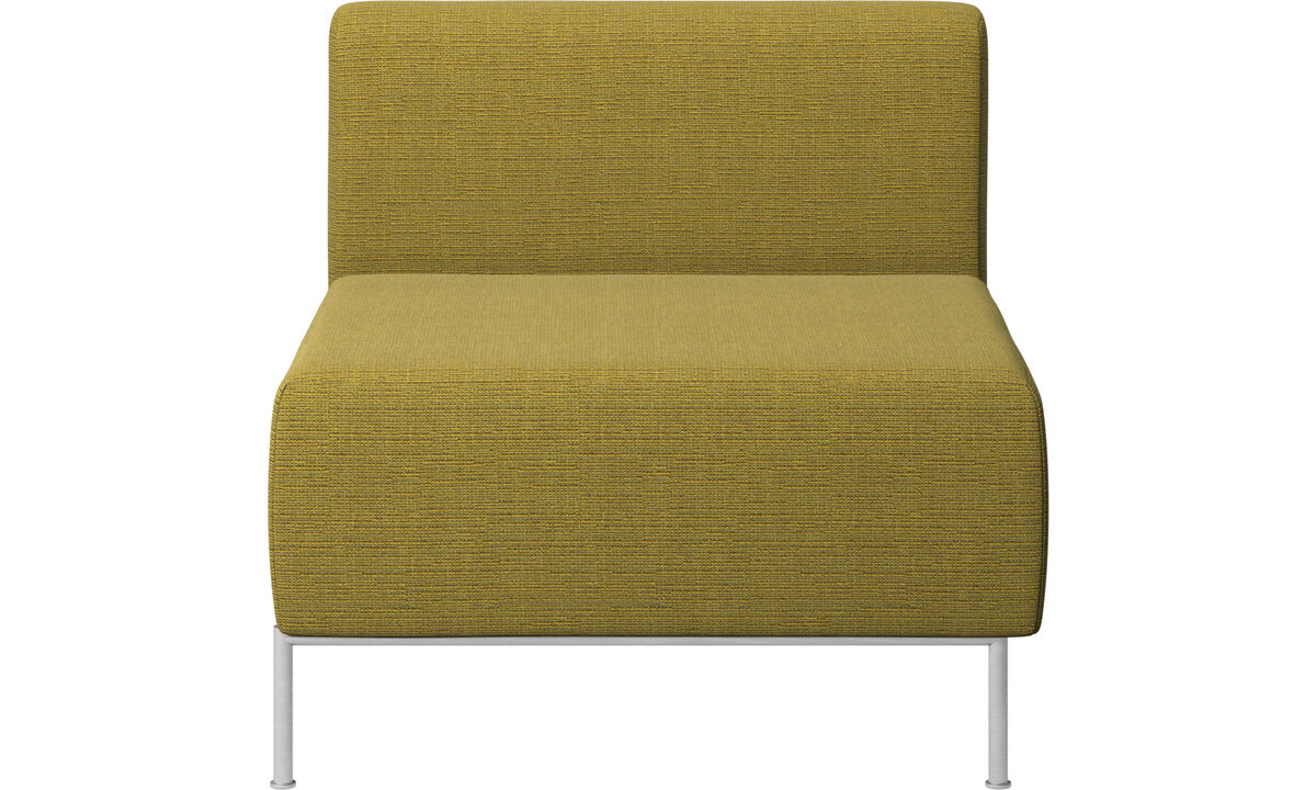 Modulære sofaer - Miami siddemodul med ryghynde - Gul - Stof