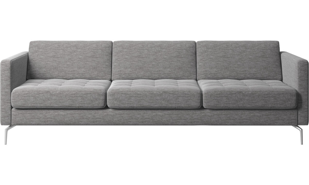 Sofas - Osaka sofa, tufted seat - Gray - Fabric