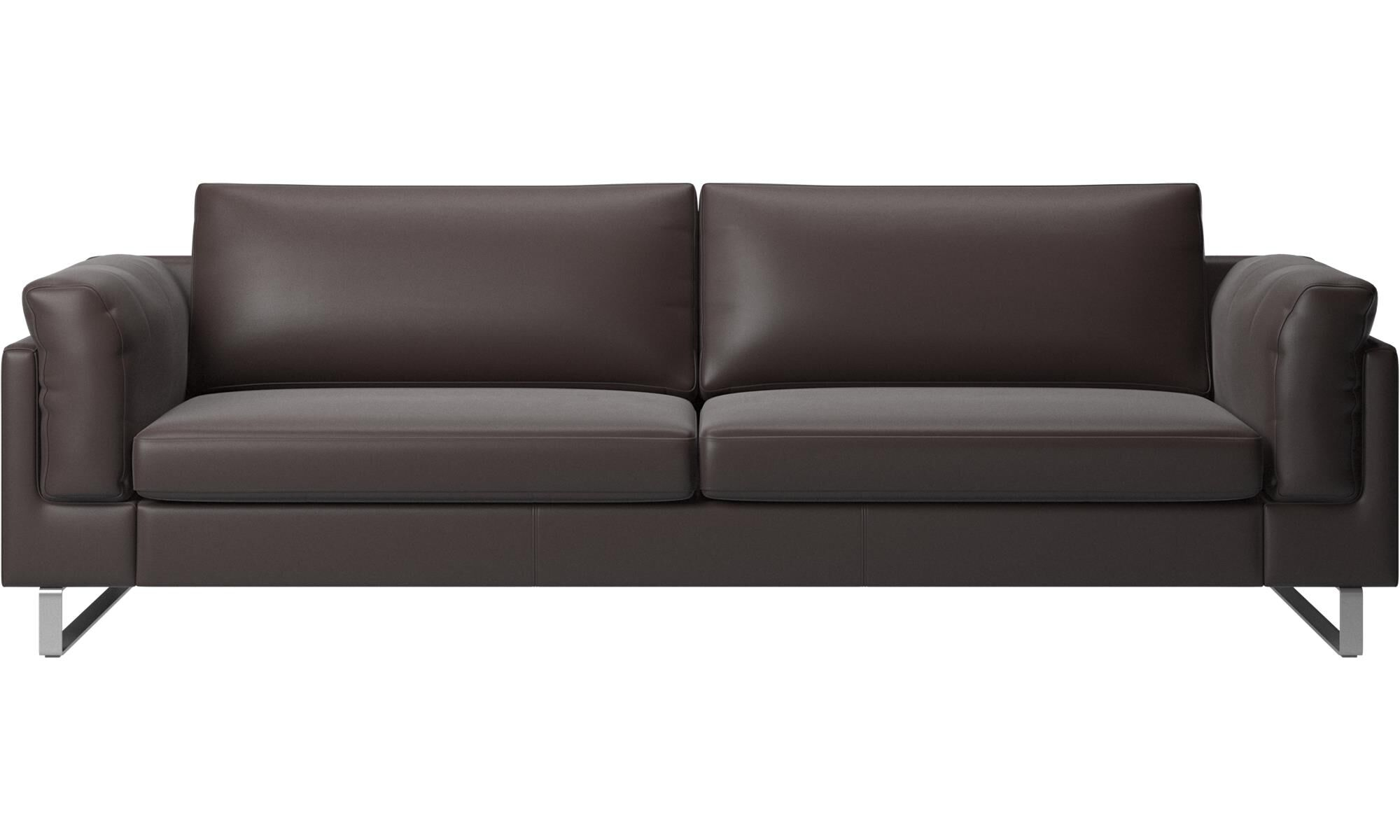 3 Seater Sofas   Indivi 2 Sofa   Brown   Leather ...