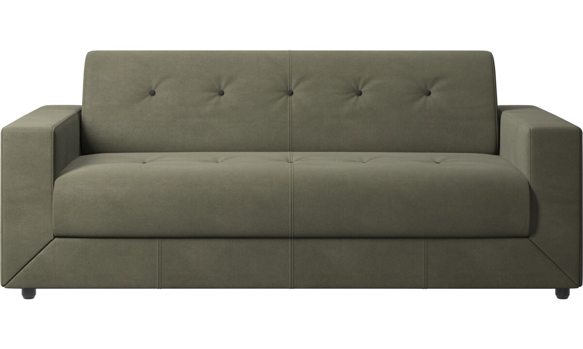 Sofa beds - Stockholm sofa bed - Green - Leather