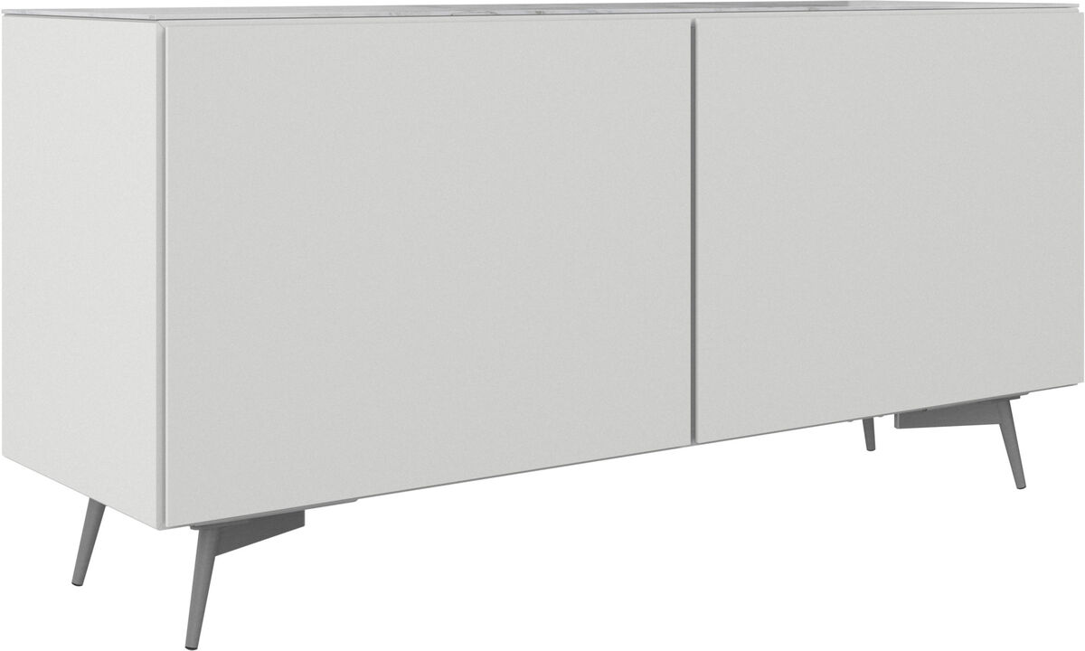 Sideboards - Lugano sideboard with top plate - Black - Lacquered