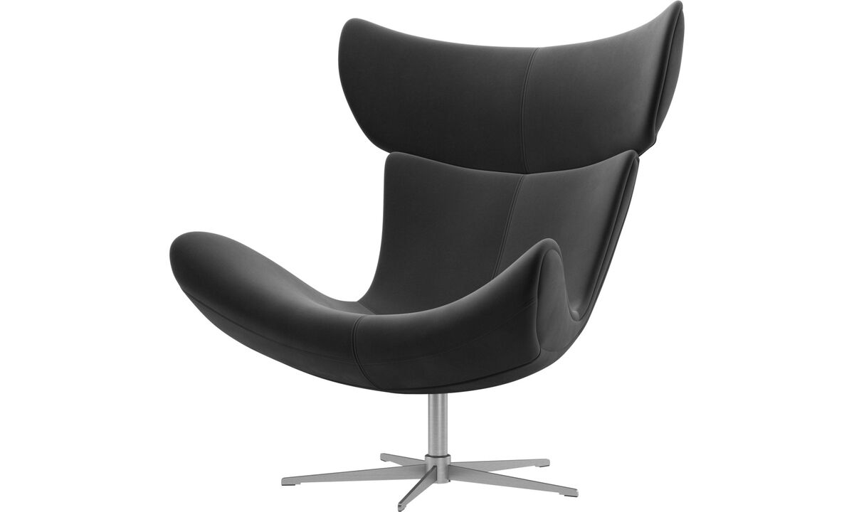 Armchairs - Imola chair with swivel function - Black - Fabric