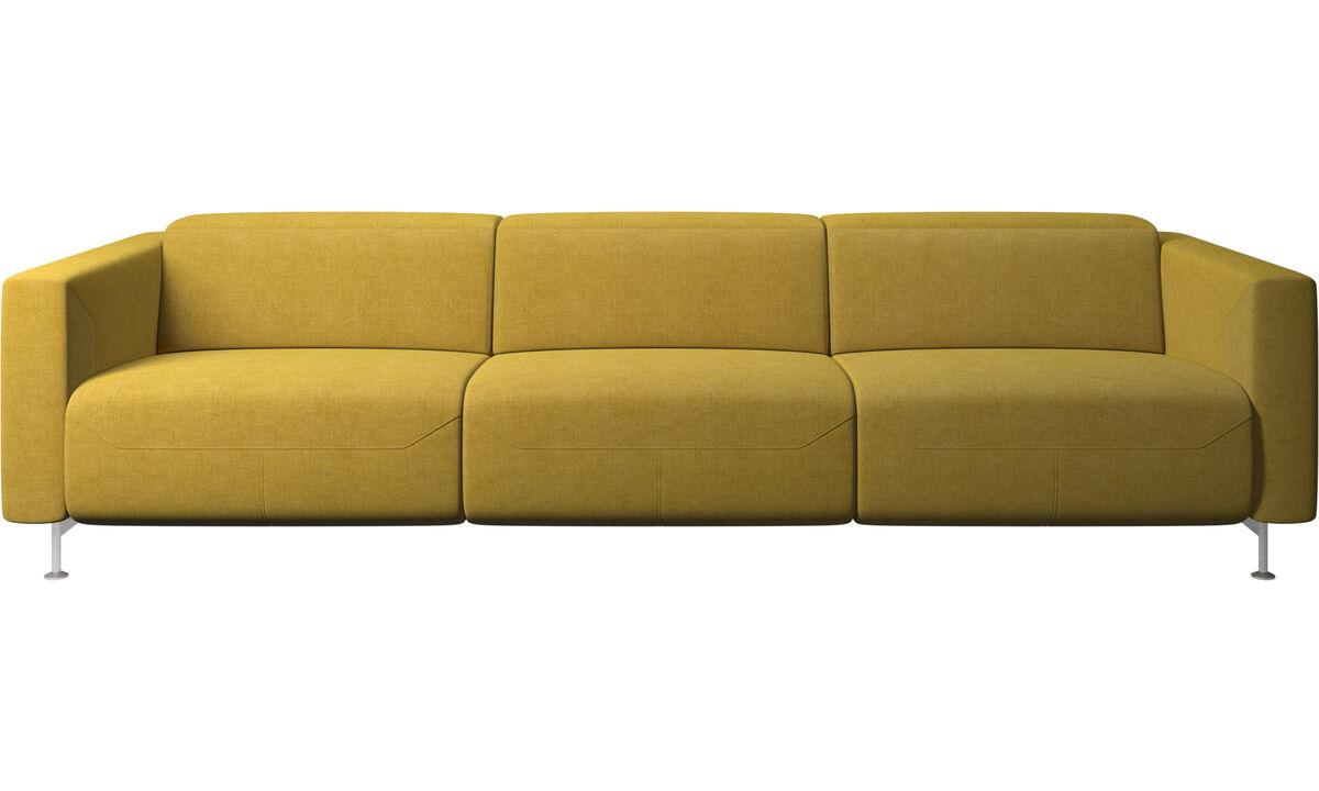 3 θέσιοι καναπέδες - Καναπές Parma με ανάκλιση - Κίτρινο - Ύφασμα