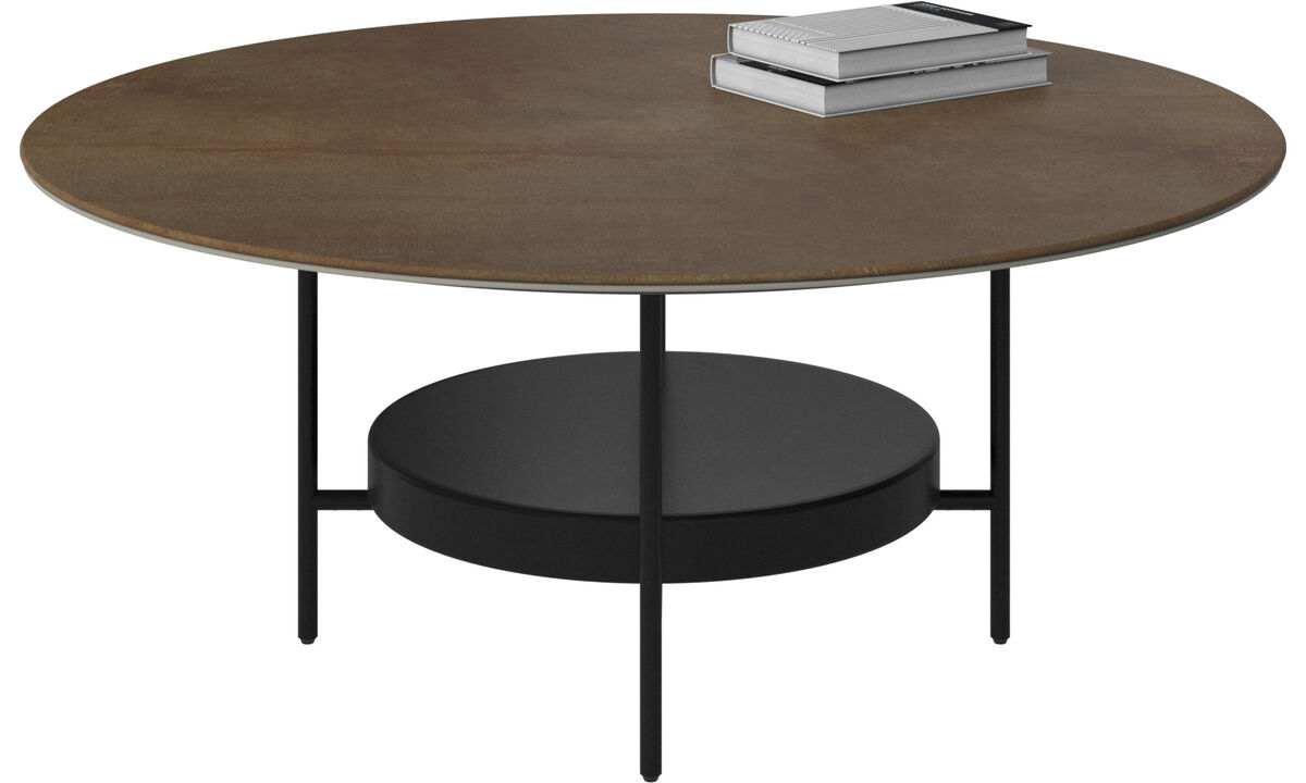 Coffee tables - Madrid coffee table - round - Brown - Ceramic