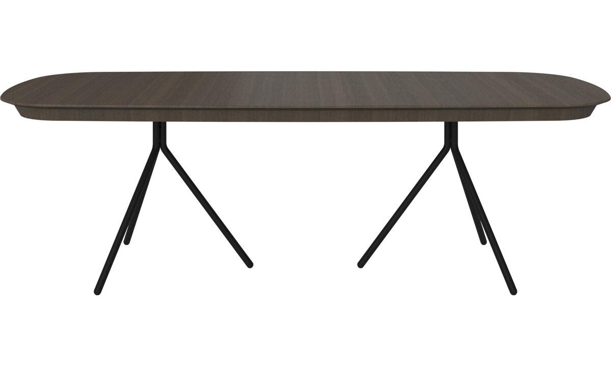 Jídelní stoly - stůl Ottawa s rozkládáním - oválný - Hnědý - Dub
