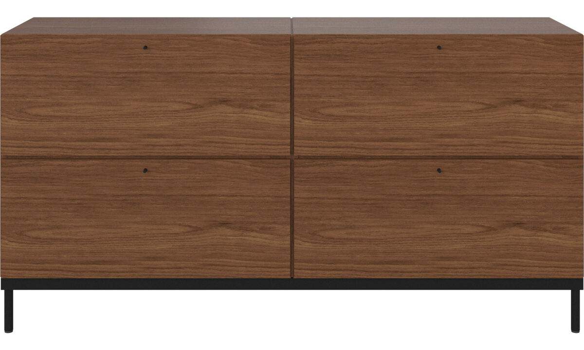 Wall systems - Atlanta base cabinet with drawers - Brown - Walnut