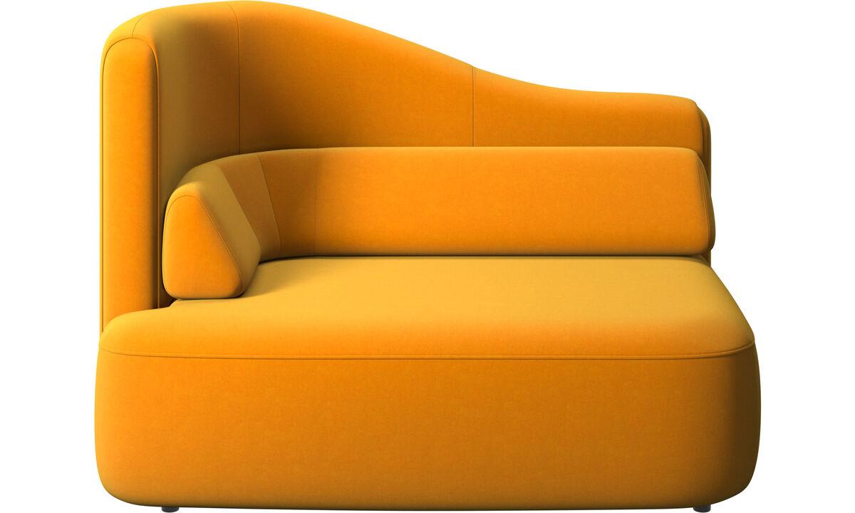 Modulárne sedačky - 1,5 sed Ottawa, opierka rúk vľavo - Pomarančová - Látka