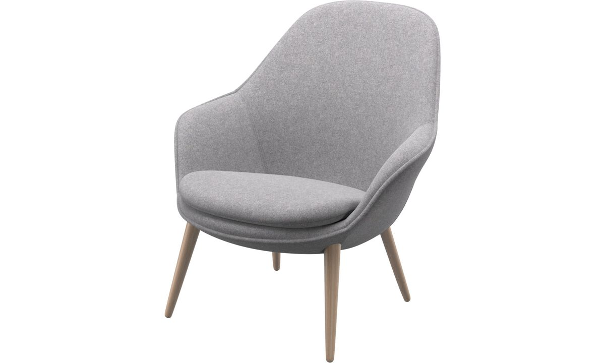New designs - Adelaide living chair - Grey - Fabric