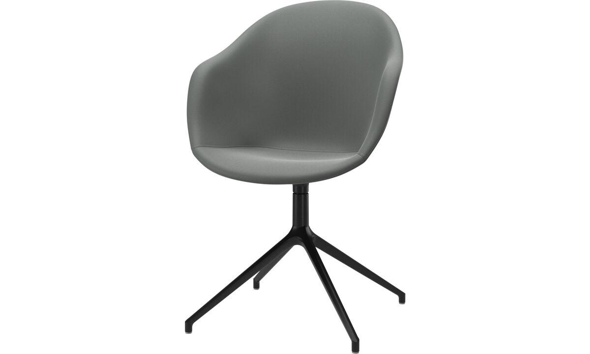 Spisestole - Adelaide stol med drejefunktion - Grå - Læder