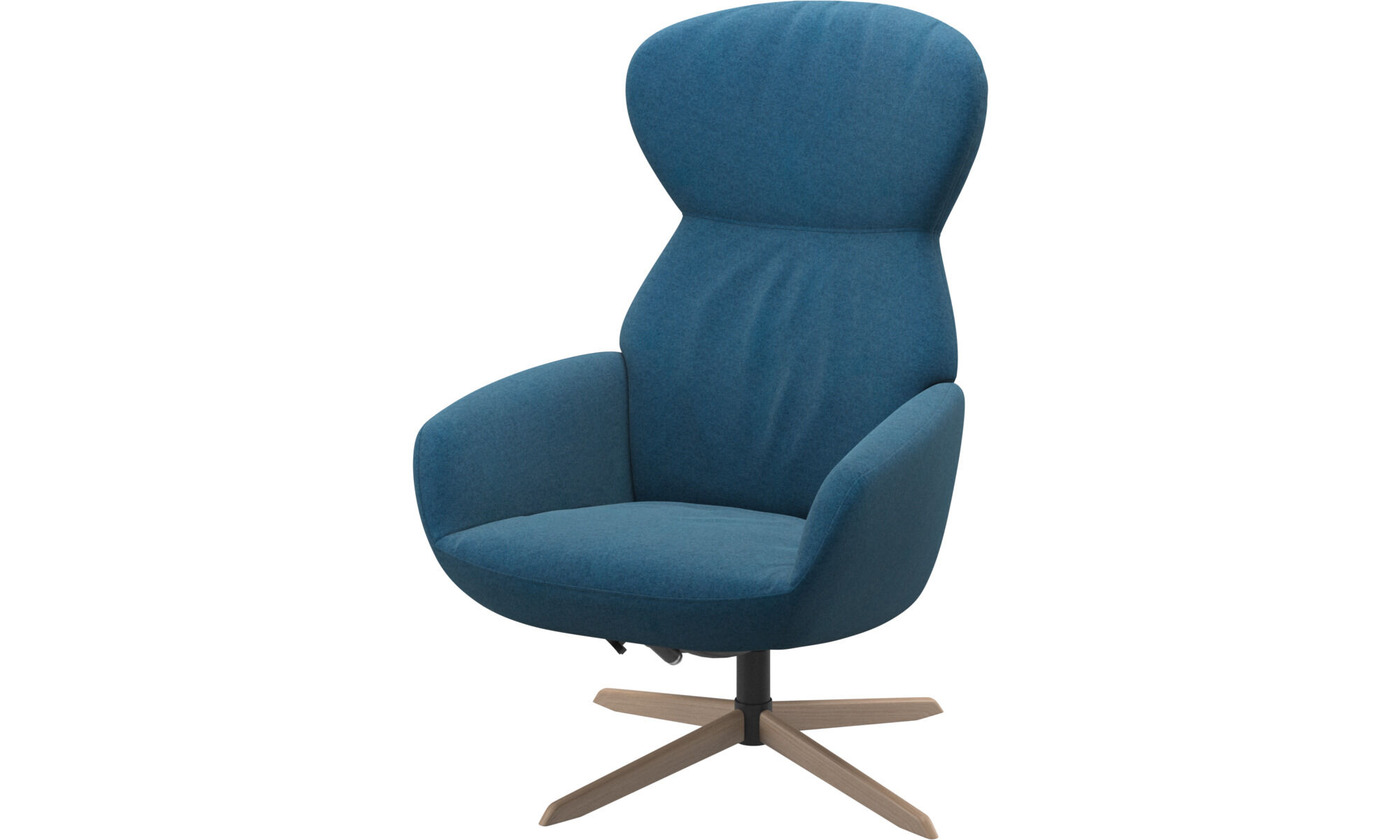 Armchairs   Athena Chair With Reclining Back Function And Swivel Base    Blue   Fabric