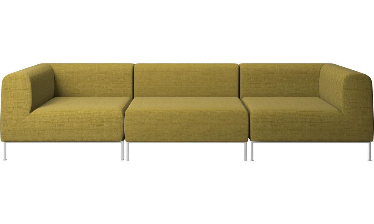 3 personers sofaer - Miami sofa - Gul - Stof
