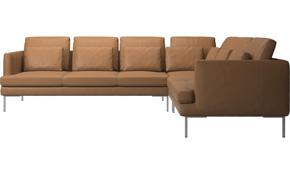 Corner sofas - Istra 2 corner sofa - Brown - Leather