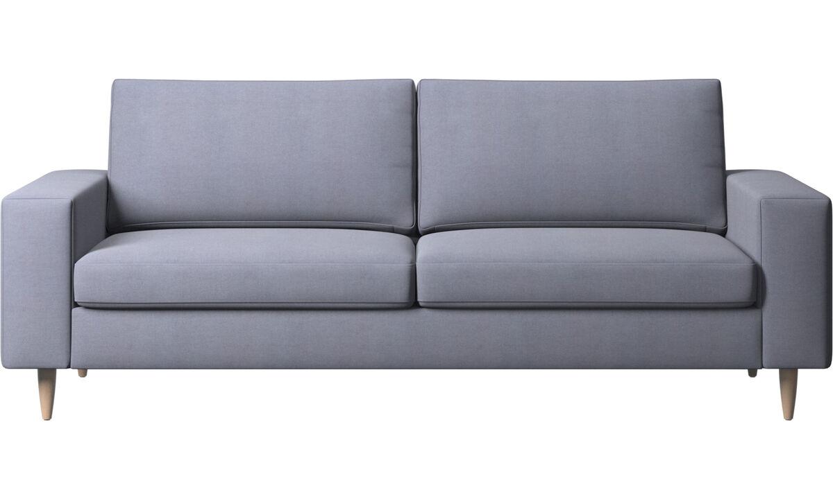 Canapés 2 places et demi - canapé Indivi - Bleu - Tissu