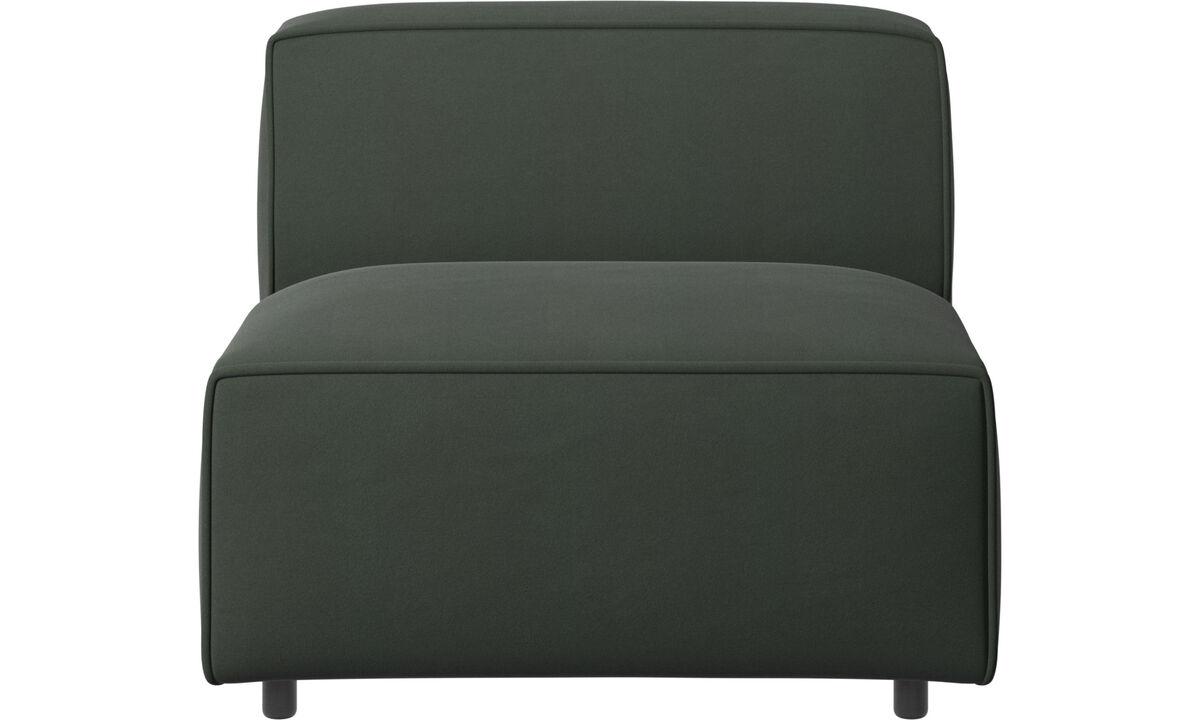 Sofás modulares - silla/módulo básico Carmo - En verde - Tela