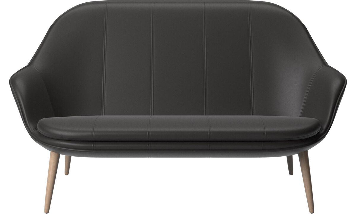 New designs - Adelaide sofa - Black - Leather