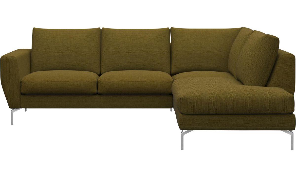 Sofas - Nice sofa with lounging unit - Yellow - Fabric