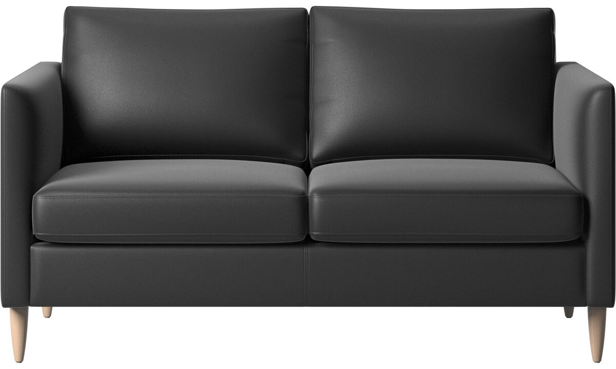 2 seater sofas - Indivi sofa - Black - Leather