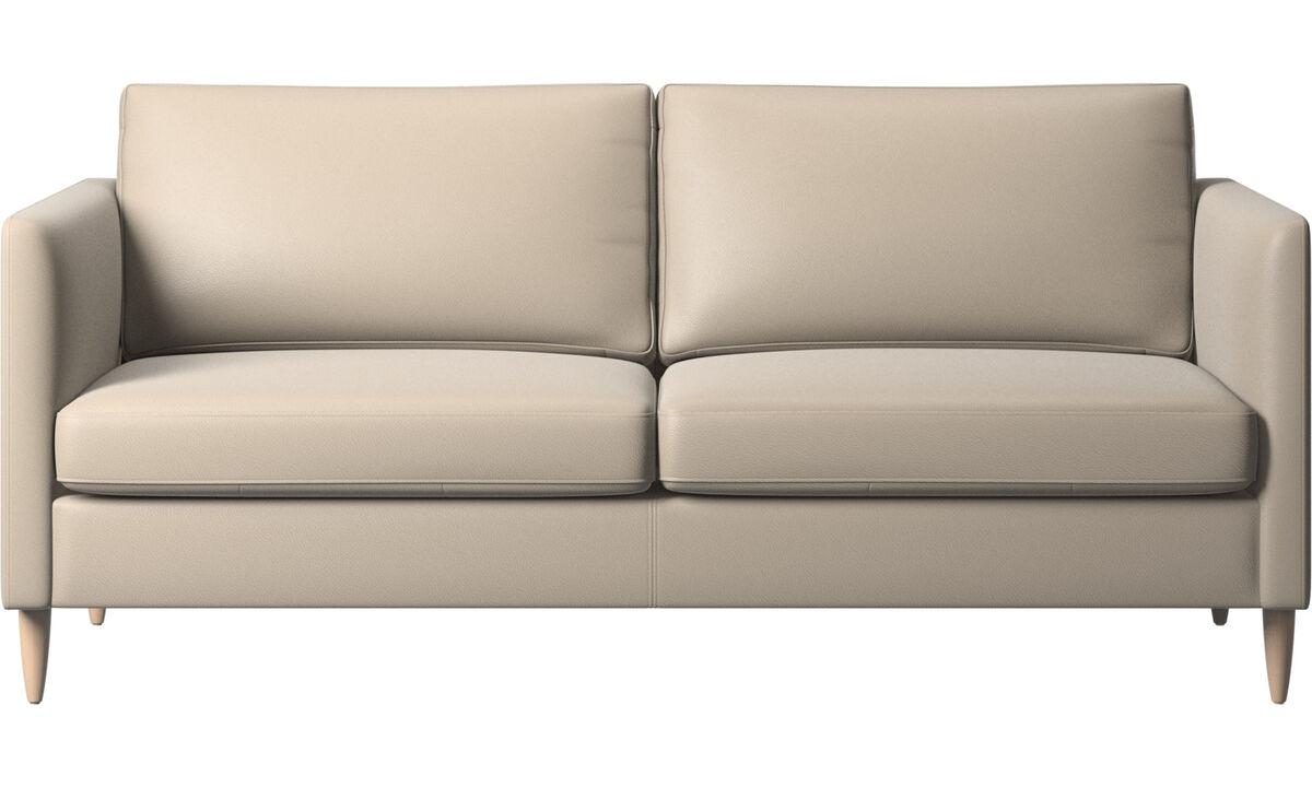 2.5 seater sofas - Indivi sofa - Beige - Leather