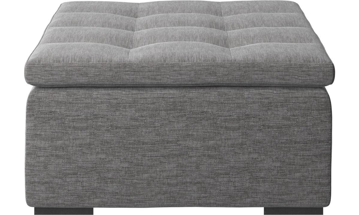 Footstools - Mezzo footstool - Grey - Fabric