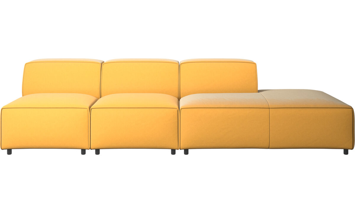 Modular sofas - Carmo sofa with lounging unit - Yellow - Fabric
