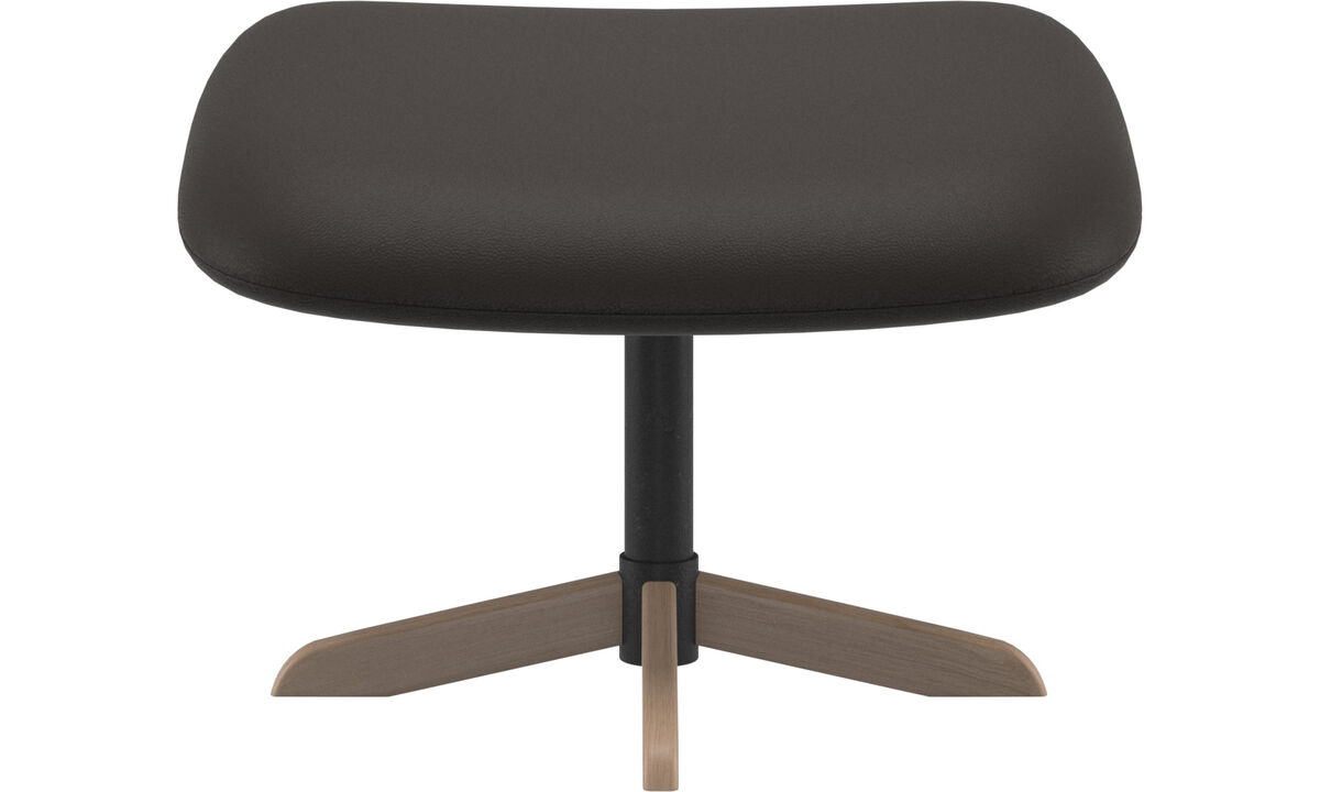 Footstools - Athena footstool - Brown - Leather