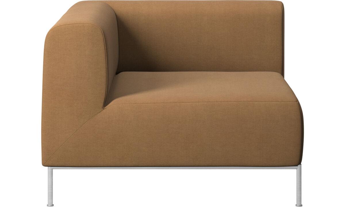 Modulárne sedačky - Miami rohový modul ľavý - Hnedá - Látka