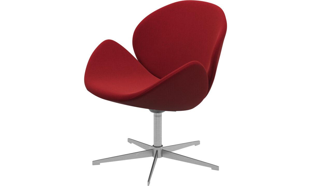 Lænestole - Ogi stol med drejefunktion - Rød - Stof