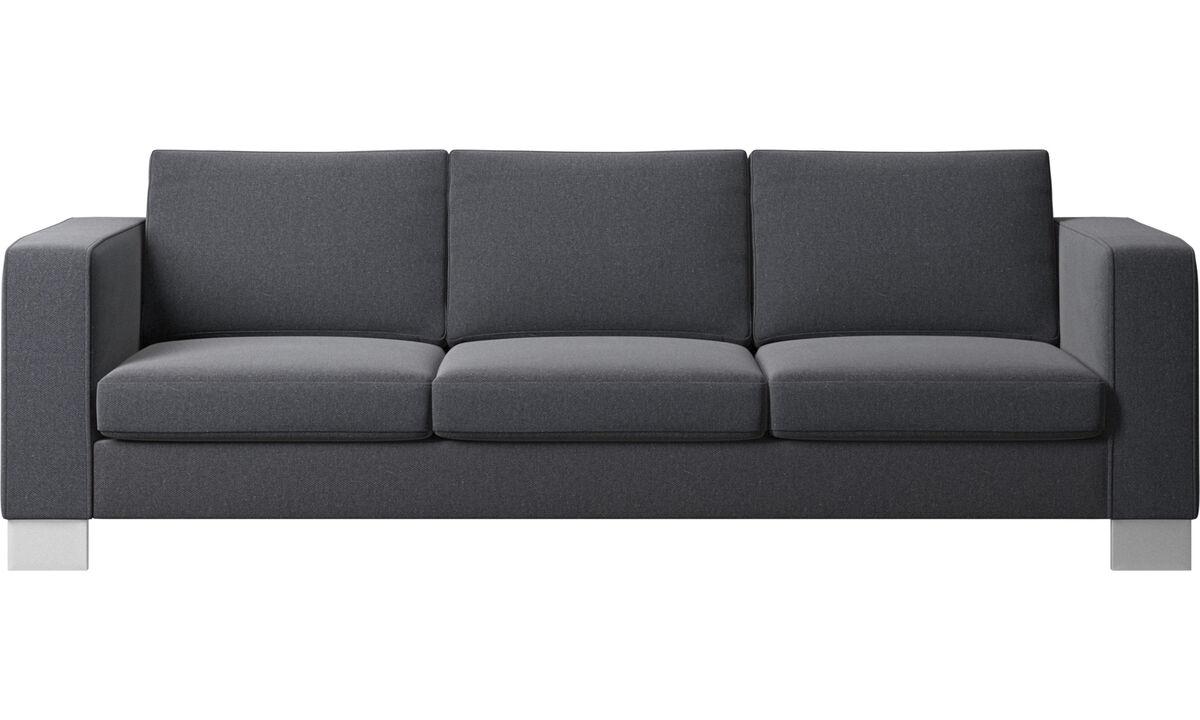 3 θέσιοι καναπέδες - Καναπές Indivi 2 - Γκρι - Ύφασμα