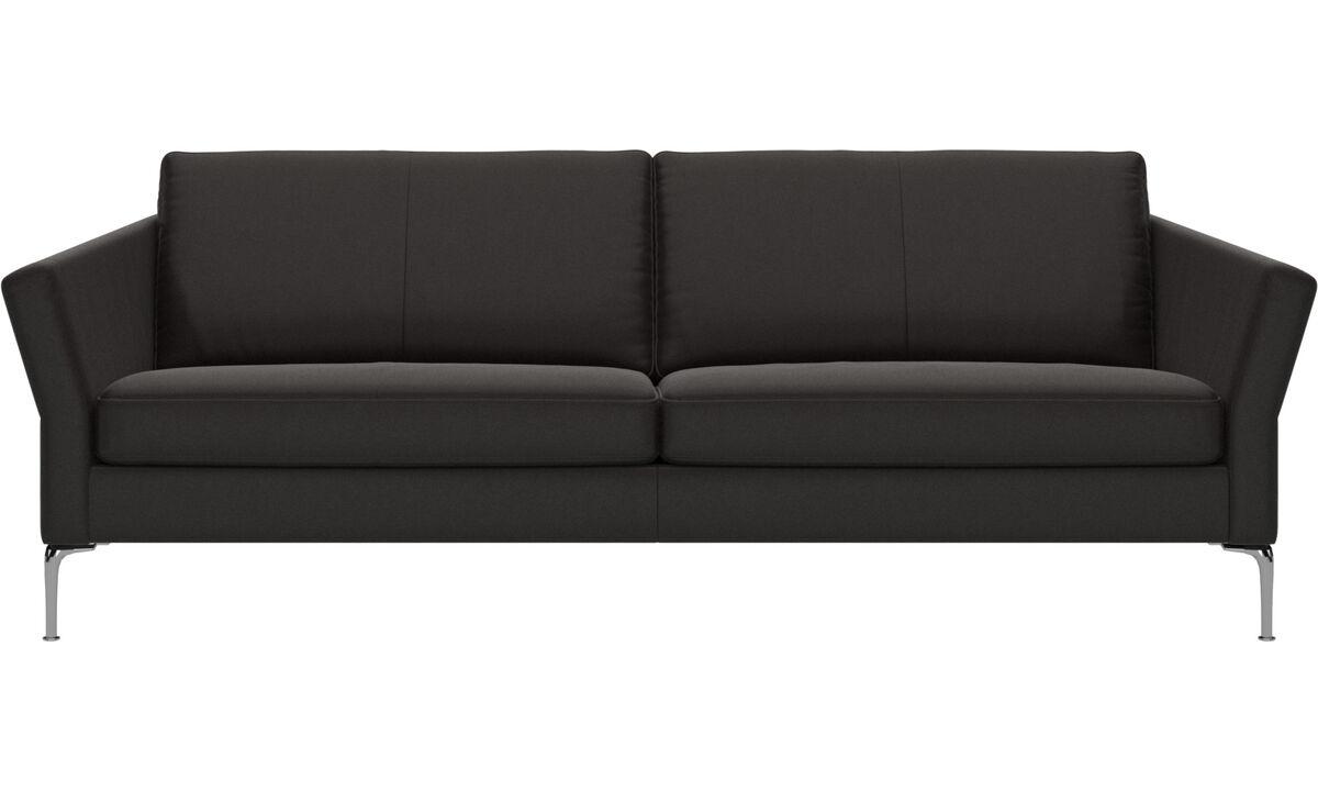 3 seater sofas - Marseille sofa - Brown - Leather