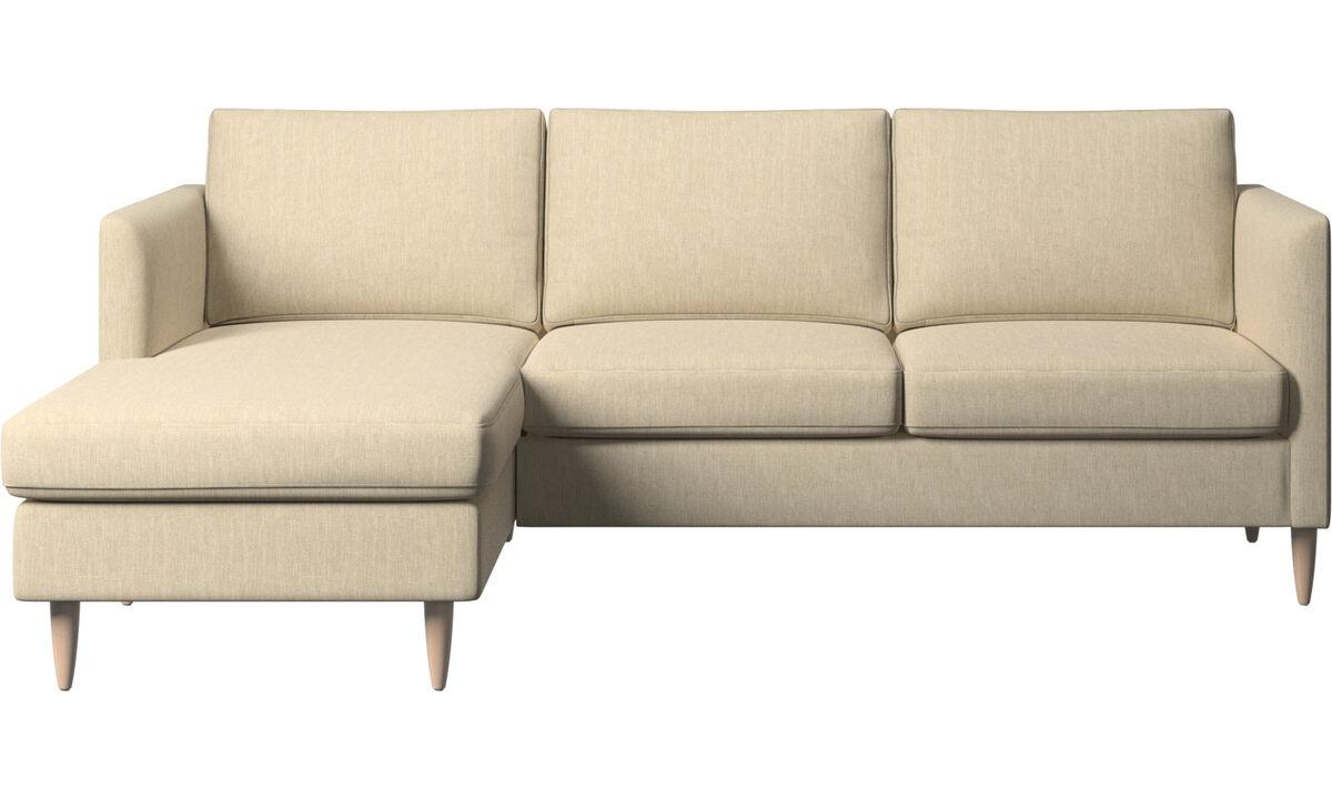 Chaise longue banken - Indivi zitbank met ligelement - Bruin - Stof